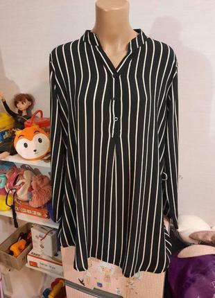 Идеальная полосатая шифоновая блуза, пог-61