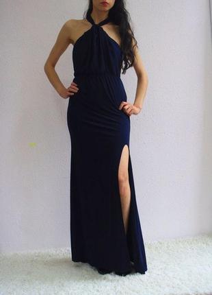Платье макси tfnc, платье с открытой спиной, длинное платье с разрезом tfnc london