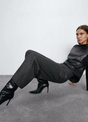 Женские брюки зара палаццо zara original spain широкие штанины