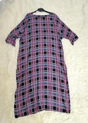 Летнее платье балахон натуральная ткань хб штапель