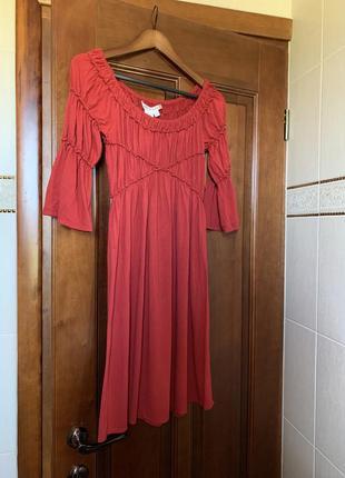 Трикотажное мягкое удобное платье м