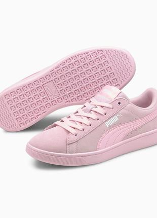 Оригинал puma яркие кеды сникерсы розовые  vikky v2 women's sneakers пума