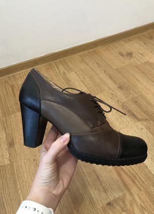 Туфлі ботильйони на шнурівці