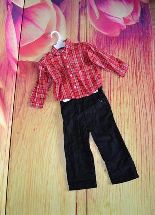 Костюм - рубашка и вельветовые штаны