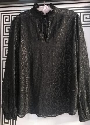 Блуза чорного кольору розмір виробника 14💜