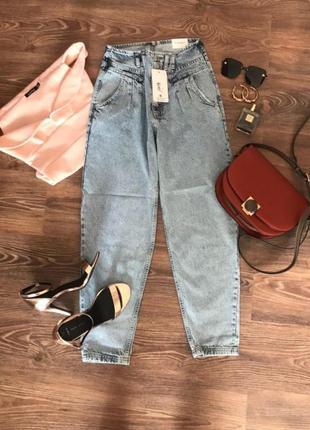 Женские джинсы zara mom джинсы момы на высокой талии
