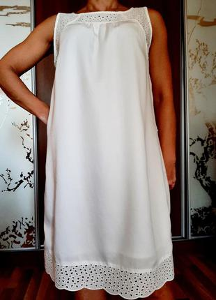 Белоснежное натуральное платье из 100% лиоцелла(эвкалипт)