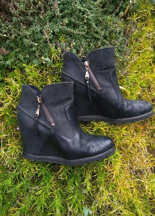 Натуральная кожа ботинки ботильоны женские