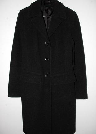 Теплое пальто прямого кроя