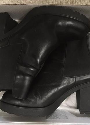 Кожаные ботиночки челси р.38-39