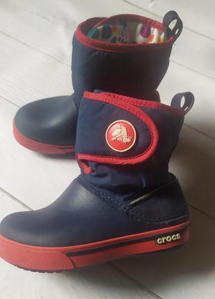 Термо ботинки сапожки crocs c10