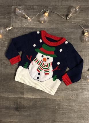 Детский зимний новогодний свитер george