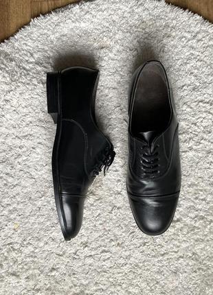 Натур. кожаные оксфорды дерби туфли