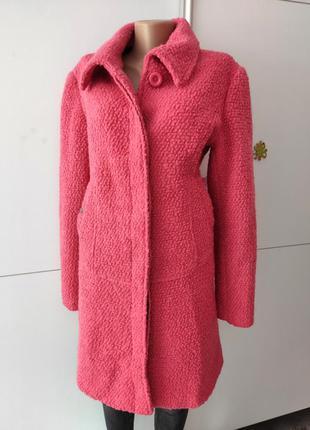 Пальто шерстяное розовое яркое теплое от люксового бренда kling 4 s m