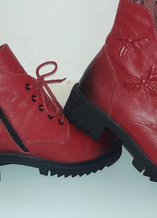 Деми  ботинки , трендовые, кожа,  красивенные.