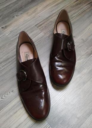 Броги монки туфли бордовые кожаные лаковые