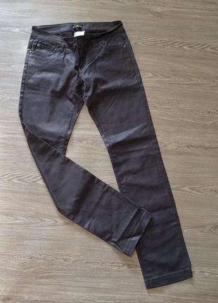 🟤 джинсы no excuse  с пропиткой под кожу кожаные штаны брюки