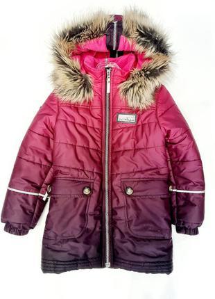 Пуховик lenne на девочку куртка зимняя
