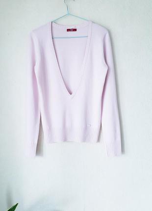 Новый пудрово-розовый стречевый джемпер под рубашку гольф боди esprit