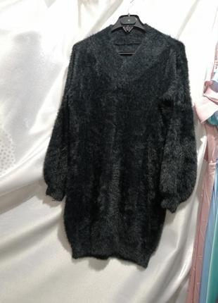 Платье свитер туника травка под альпаку