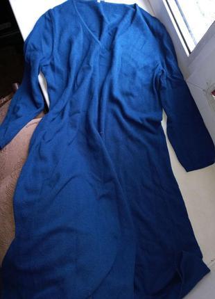 Платье свободного кроя с шерстью