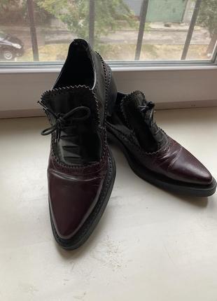 Туфли лоферы оксфорды
