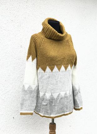 Шикарный объёмный стильный свитер качество италия италия