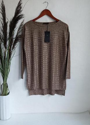 ✨неймовірна , подовжена блуза, тонкий светр , реглан , із переливом , квадратний низ ✨