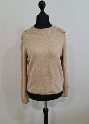 Бежевый свитер h&m