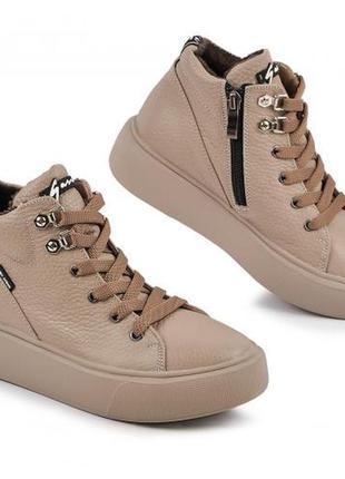 Шкіряні черевики осінь зима