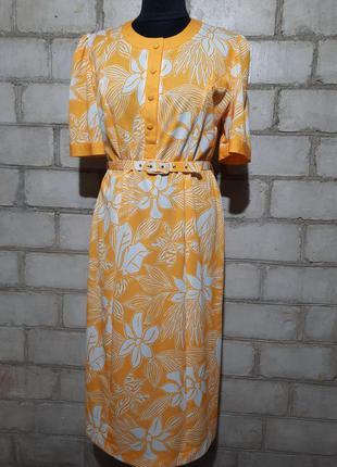 Яркое платье миди франция