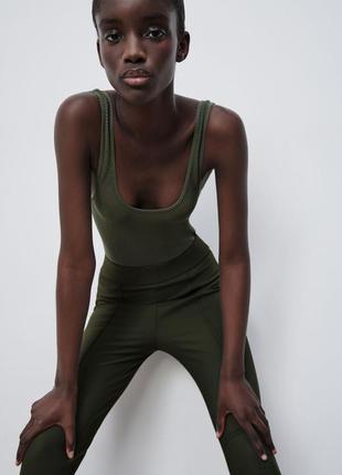 Zara лосины леггинсы с штрипками штаны новые размер  xs , s