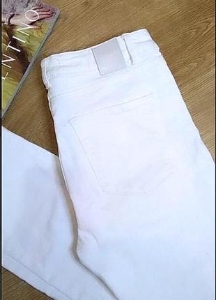 Зимние белые джинсы xxs/плотные,ровные bershka