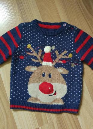 Новічна кофта сверт новогодняя кофта свитер primark
