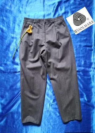 Зима, холода! натуральная шерсть, высокая посадка, брюки