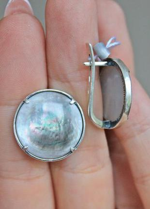 Серебряные серьги хартов 2889 перламутр