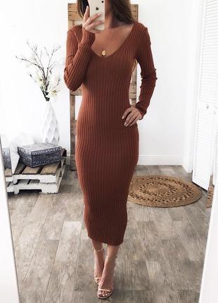 Новое платье/резинка, миди, new man