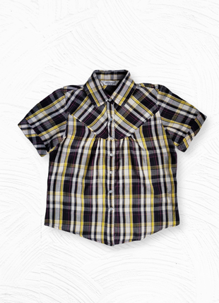 Женская блузка рубашка atmosphere в клетку размер м