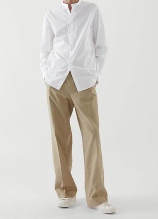 Хлопковые брюки широкие высокая талия  cos p.42