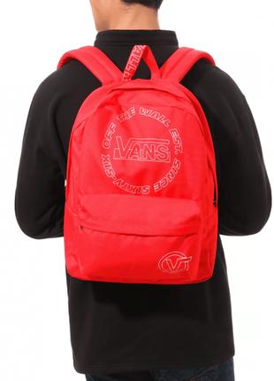 Рюкзак vans old skool backpack red оригінал наплічник унісекс