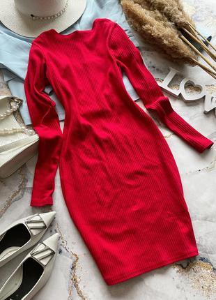 Платье открытая спинка