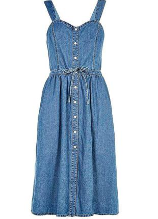 Джинсовое платье миди/летний сарафан