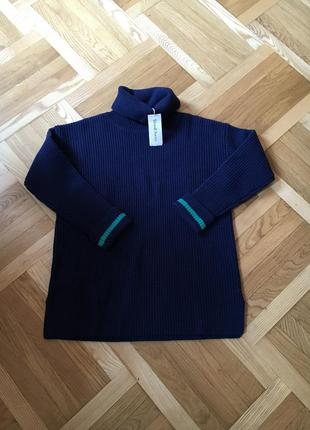Оверсайз новый тёплый шерстяной свитер свитерок кофта плотный зимний
