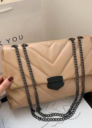 Reprcla нюдова сумка з люнцюжком
