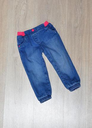 Джинсы на флисе флис mothercare 18-24 мес. теплые утепленные джинси теплі на флісі флис зимние зимові зима