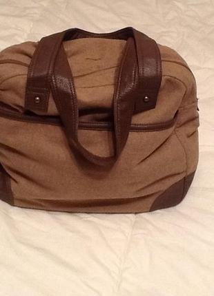 Текстильная зимняя сумка шопер terranova