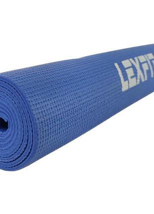 Коврик для фитнеса (коврик для йоги, мат) 0.6 см, синий