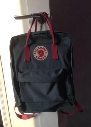 Зелёный рюкзак fjallraven kanken 16 л