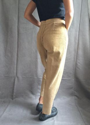 Женские тёплые широкие   вельветовые  брюки.