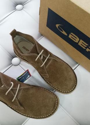 Ботинки дезерты, туфли из натуральной замши европейского бренда beppi, р. 39